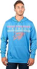 NBA Oklahoma City Thunder Men's Fleece Hoodie Pullover Sweatshirt Poly Midtown, Medium, Pale Blue