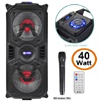 Zoook Rocker Thunder Plus 40 watts Karaoke Bluetooth Speaker with Remote & Wireless Mic(Black)