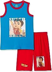 Chhota Bheem Boy's Regular Fit Pyjama Set