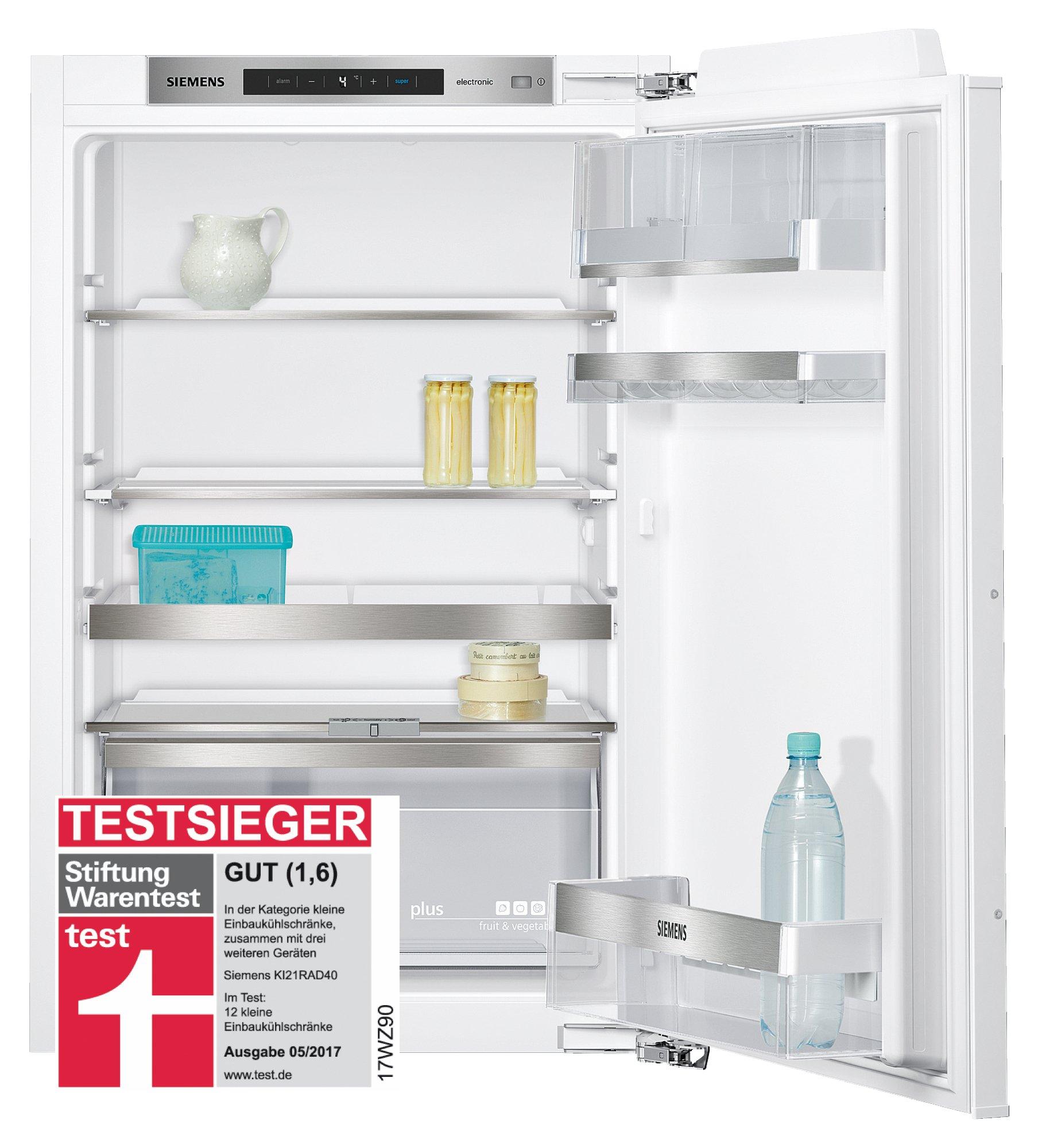 Siemens KI21RAD40 Einbau-Kühlschrank / A+++ / 87.4 cm Höhe / 65 kWh/Jahr / 144 Liter Kühlteil / safetyGlass…