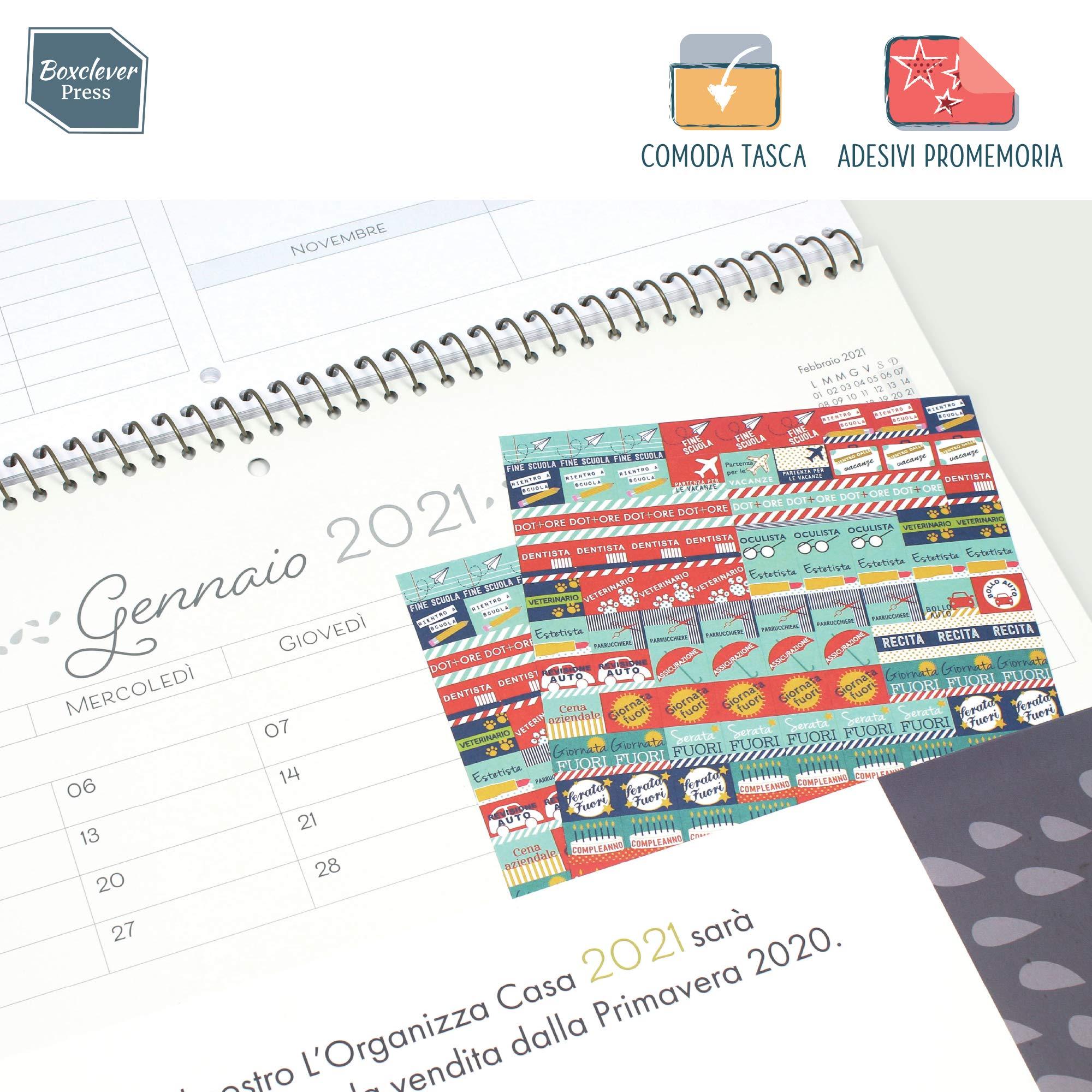 Calendario Mensile Settembre 2020.Boxclever Press L Organizza Casa Calendario Mensile 2019 2020 Calendario 2019 Da Muro Accademico In Italiano Con Ampio Spazio Inizia Da Settembre