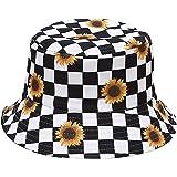 Malaxlx Cappello da Pescatore Donna Uomo Cappello da Sole Pieghevole Cappello da Pesca Cotone Viaggio Spiaggia Esterno Cappel