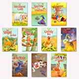 Moral Story Books for Kids (Pack of 10 Books) | 160 Total Pages | Illustrated Stories