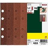 Bosch Schuurblad-Set, 25-Delig, Voor Vlakschuurmachine, Korrel 40/60/80/120, 8 Gaten