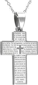 TEMPUS FUGIT. Croce con catena, acciaio inox anallergico, con scatola regalo