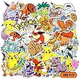 CENOVE 100 stuks Pokemon Stickers Pack, waterdichte stickers voor kinderen, tieners, notebook, gitaar, skateboard, reisticker