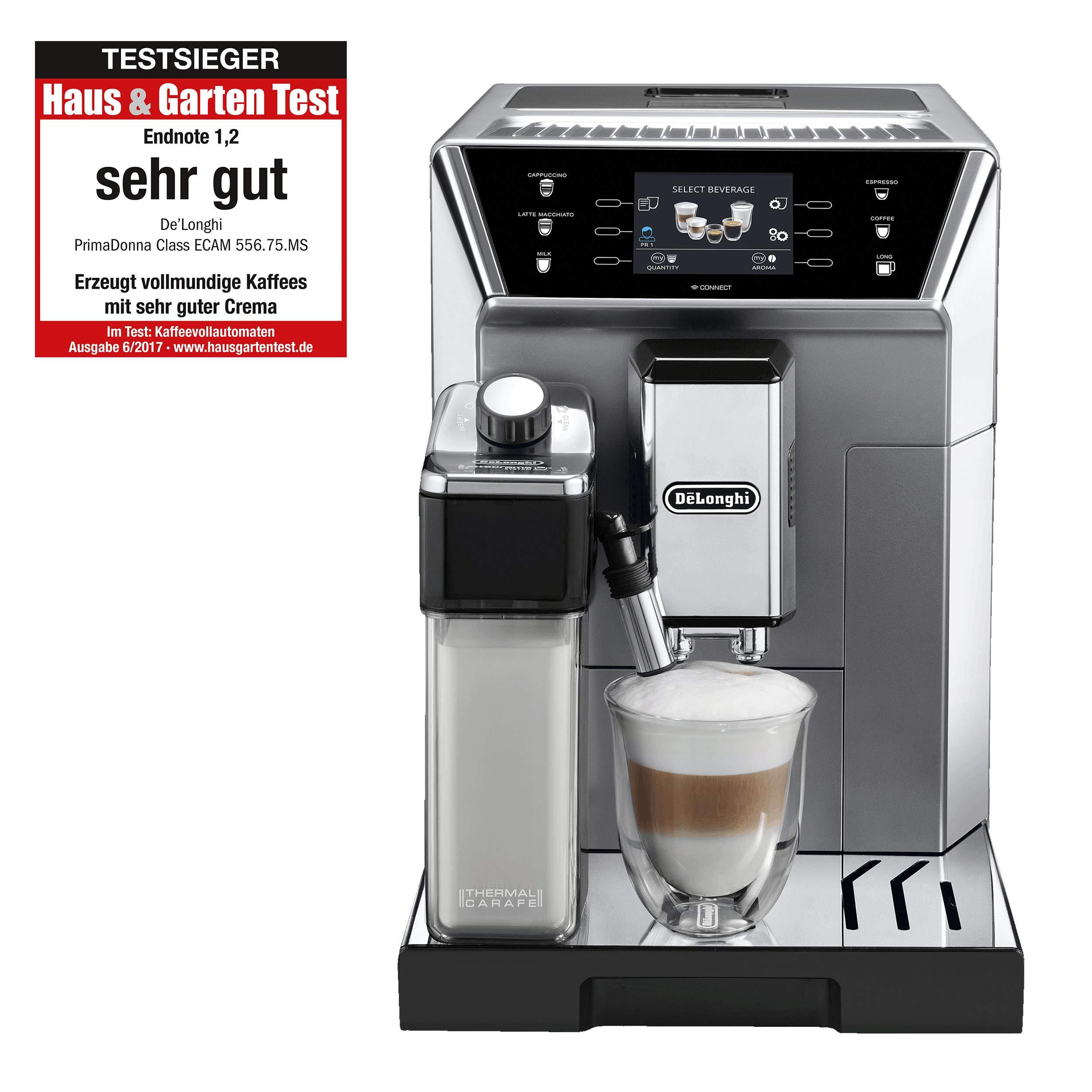 De'Longhi ECAM 556.75.MS PrimaDonna Class Kaffeevollautomat (App, Milchsystem)