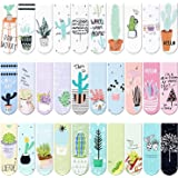30 Pieces Magnet Magnetic Bookmarks Cute Magnet Page Markers Page Clips Bookmark for Student Office Reading Stationery (Plant