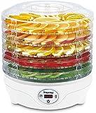 SUNTEC Dörrautomat FDH-8595 | Dörrgerät Digital Trockner für Fleisch, Gemüse, Obst | Timerfunktion 0,5-19,5 Std. | Automatische Temperaturhaltung 35-70 C° | BPA Freie Einlegegitter 240 Watt