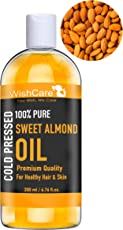 WishCare Pure Cold Pressed Sweet Almond Oil for Hair and Skin- 200 Ml