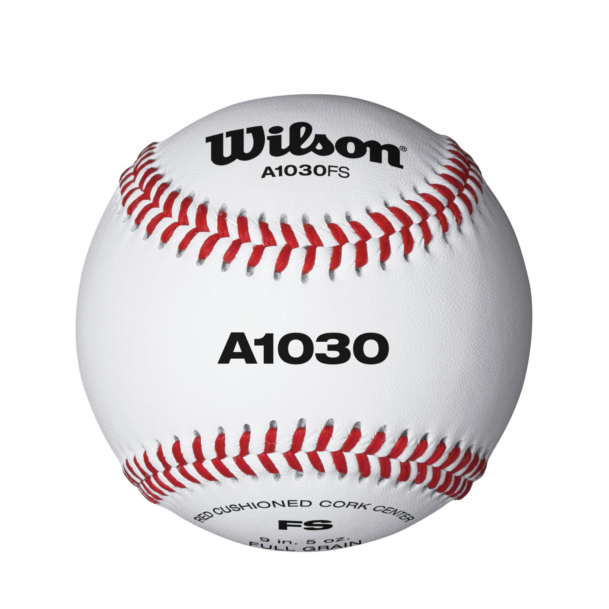 80ca5f878 Wilson A1030 Flat Seam Baseballs (12 Ball Pack)