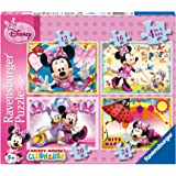 Ravensburger [Import Anglais] Disney Minnie Mouse 4 In A Box Jigsaw