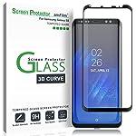 Galaxy S8 Pellicola Protettiva, amFilm Copertura Totale Vetro Temperato Protezione Schermo per Samsung Galaxy S8