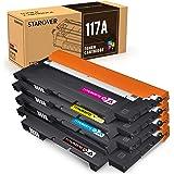 STAROVER 117A (con Chips) Cartuchos de Tóner compatibles, Tóner de Repuesto para HP Color Laser 150a 150nw MFP 178nw 179fnw,