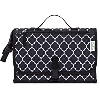 Comfy Cubs Baby Portable Changing Pad, Diaper Bag, Travel Mat Station, Large Black Pattern