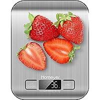 HOMEVER Balance de Cuisine Électronique, Balance numérique de Cuisine de Haute Précision, Fonction Tare, Plus Large…