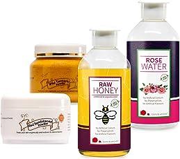Looms & Weaves Herbal Face Pack (125 Gm Kasthuri Turmeric Powder, 100 Gm Red Sandalwood Powder, 200 Ml Honey & 200 Ml Rose Water)