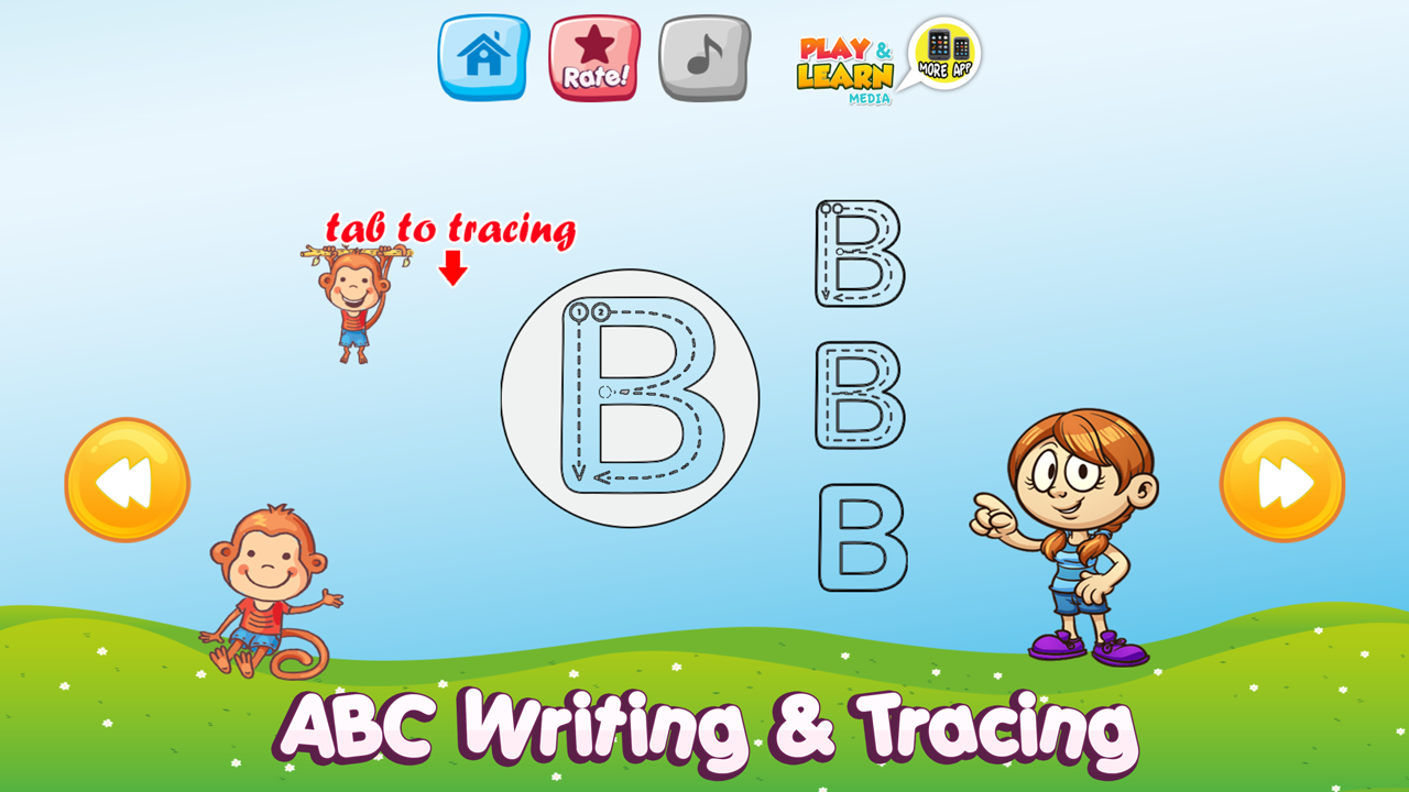 kids little learners early learning games : phonetic alphabet, trace ...