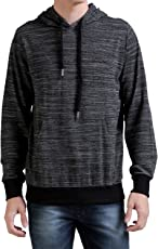 CHKOKKO Winter Wear Full Sleeves Hooded Sweatshirt for Men