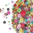 Boutons Colorés Artisanat Bouton Rond pour Enfants, Lot de 800 boutons à coudre assortis pour Toutes Les activités de Loisirs