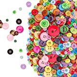 800pcs Bottoni Colorati Assortiti, Bottoni Colorati Grandi Piccoli Resina Bottoni Decorativi per Bambini, Bottoni per Artigia