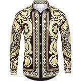 قميص باتشينوبل رجالي بأكمام طويلة وتصميم عصري فاخر مطبوع