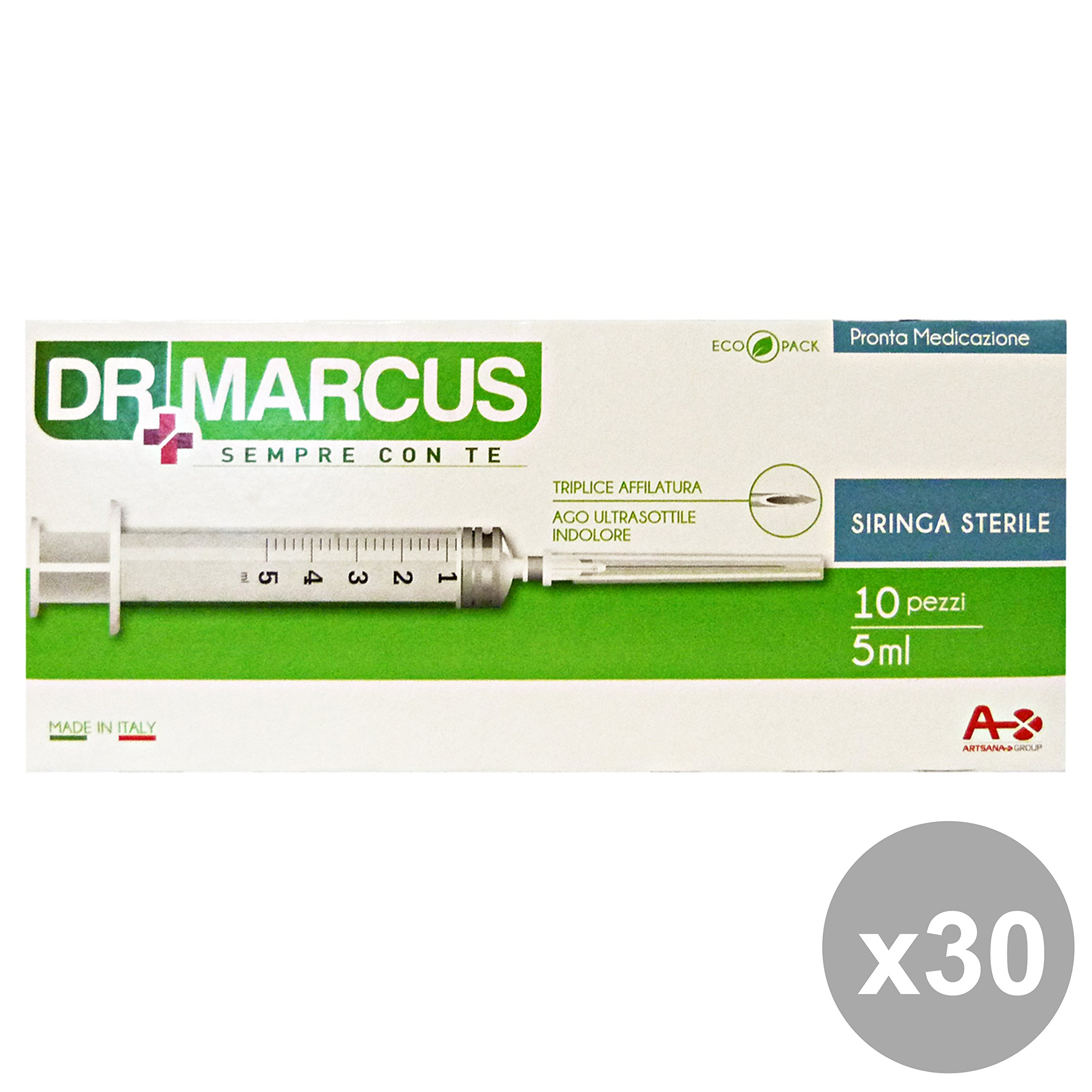 Set 30 DR.MARCUS Siringhe * 10 Pezzi Disinfettanti e igienizzanti