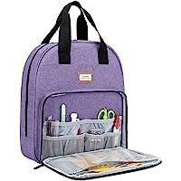 CURMIO Sac de kit de broderie, sac de transport portable pour outils de point de croix et projet de broderie, sac de…