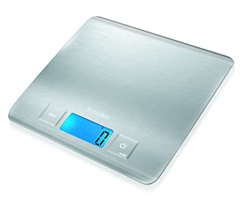 Terraillon Electronic Kitchen Scales Ultra Slim Stainless Steel Square 5  Kg: Amazon.co.uk: Kitchen U0026 Home