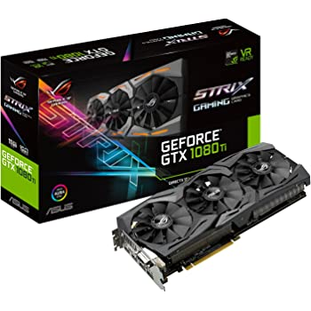 ASUS ROG-STRIX-GTX1080TI-11G-GAMING - Tarjeta gráfica (11 GB de GDDR5, 1480 MHz, PCI Express 3.0 chipset, NVIDIA GeForce, para Gaming en 4K) Color Negro