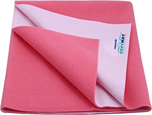 Newnik Reusable Absorbent Sheets/Underpads (Size: 200cm X 260cm) Salmon Rose, Double Bed