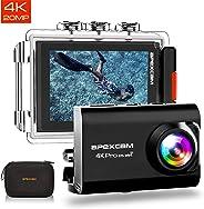 Apexcam 【2019 Nuova】 Action Cam PRO Fotocamera 4K EIS WiFi 20MP Ultra HD Impermeabile 40M Sott'Acqua MicEsterno 2 Pollici2.