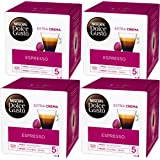Nescafé Dolce Gusto Espresso, Lot de 4, 4 x 16 Capsules