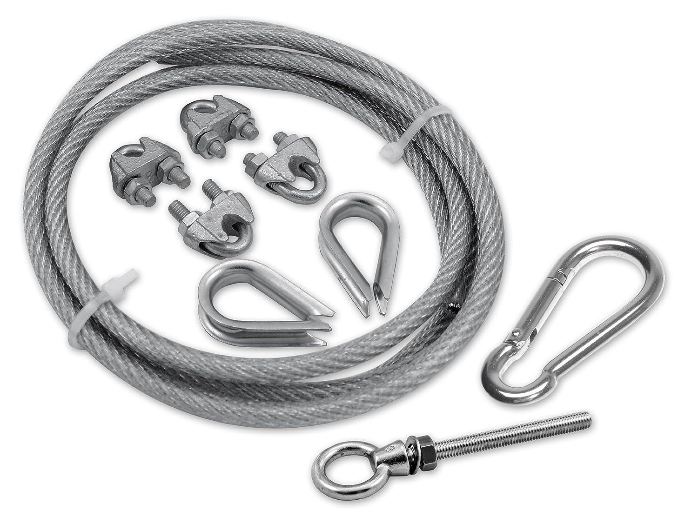 Amazon.de: Corasol COR19SET5 Montageset No.5 Stahlseil, 2, 5 m ...