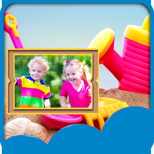 Kinder Fotorahmen (Fee-geburtstagskuchen)