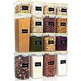 Mjölsockerbehållare, 15 st. Lufttäta matförvaringsbehållare med lock 1.6L för spannmål och torrfoder Stor plastlåda för kök B