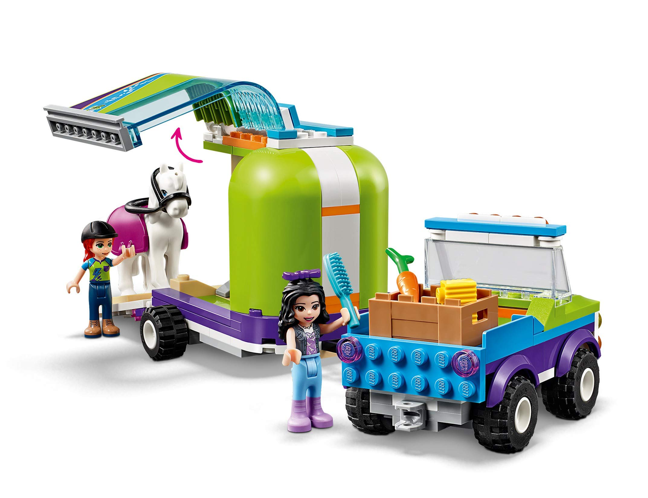 LEGO - Friends Il rimorchio dei cavalli di Mia, Set di Estensione Stabile, Buggy 4x4, Mini-doll Mia ed Emma, Idea Regalo… 4 spesavip