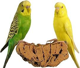 """Korksitzbrett """"Mittel"""" für Vögel + Premium Vogel-Sitzbrett aus Kork für Wellensittiche, Nymphensittiche, Papageien und Co.   100% BIO und gesundes Knabber-Spielzeug   Vögel lieben Kork-Sitzbretter   Ohne Werkzeug an jedem Käfig einfach zu befestigen   Leicht zu reinigen   Natürlicher Kork ist angenehm warm für Vogelfüße   Gut für Krallen und Schnabel-Pflege"""