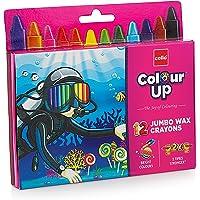 Cello ColourUp Wax Crayon Jumbo - 12 Shades