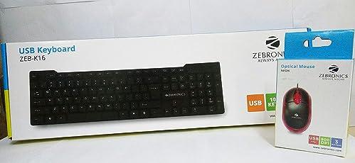 Zebronics ZEB-K16 USB Keyboard (Black)