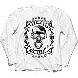 lepni.me Camiseta de Manga Larga para Hombre Viva rápido - muera último - Citas de Paseo en Bicicleta, Ropa de Motocicleta, E