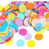 Kesote Multicolor Confeti de Papel de Forma Redonda 10000 Piezas de Decoración Confeti de 8 Colores para Boda, Cumpleaños, Fi