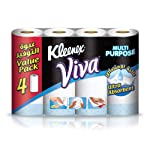 Kleenex Viva Kitchen Towel Rolls - Pack of 4 Rolls (4x55 Sheets x2 Ply)