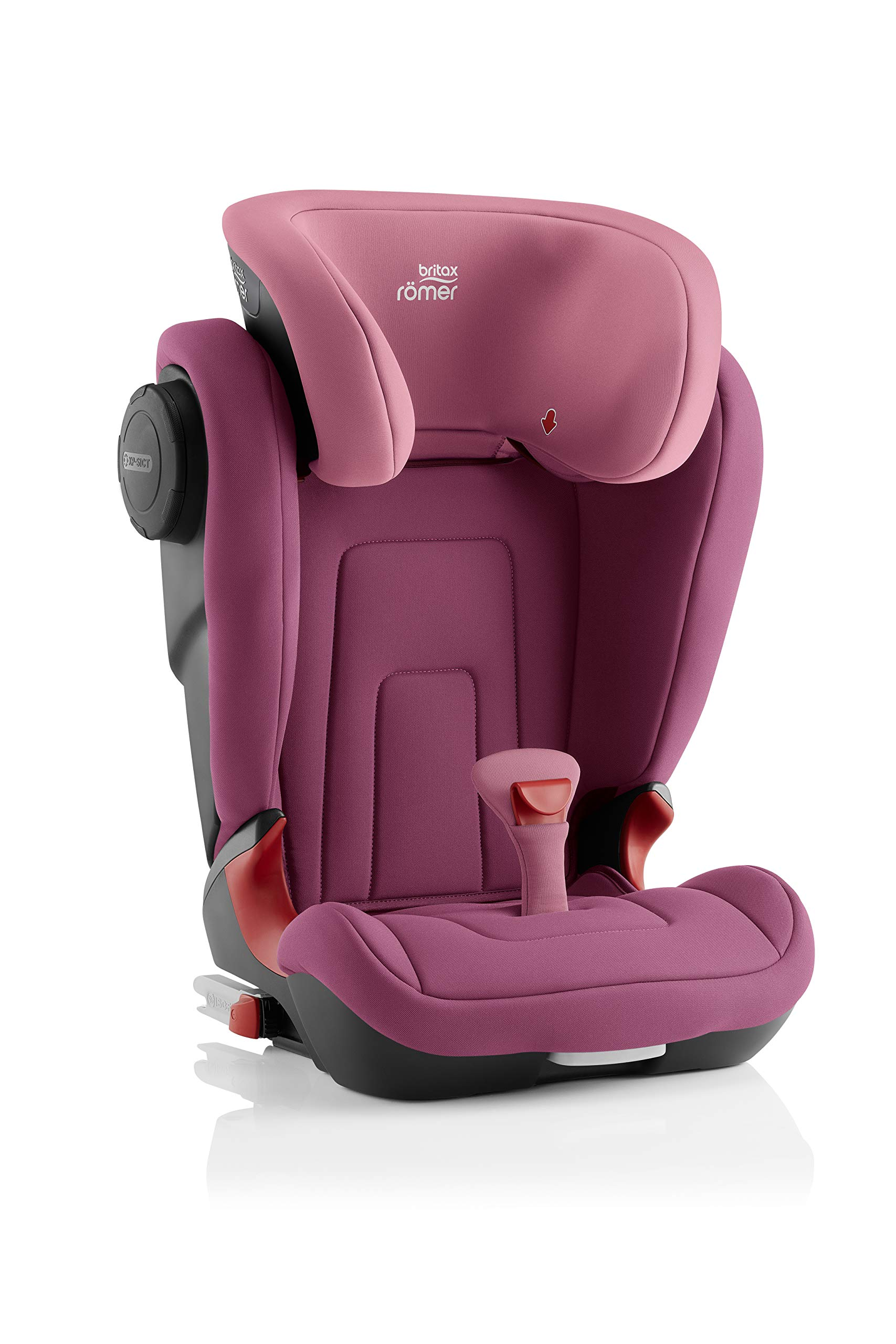 Britax Römer KIDFIX² S Group 2-3 (15-36kg) Car Seat - Wine Rose  Advanced side impact protection - sict offers superior protection to your child in the event of a side collision. reducing impact forces by minimising the distance between the car and the car seat. Secure guard - helps to protect your child's delicate abdominal area by adding an extra - a 4th - contact point to the 3-point seat belt. High back booster - protects your child in 3 ways: provides head to hip protection; belt guides provide correct positioning of the seat belt and the padded headrest provides safety and comfort. 3
