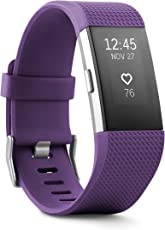 Fitbit Charge 2 Wireless Activity Tracker and Sleep Wristband (Plum/Silver)