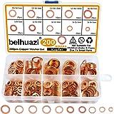 beihuazi® koperen afdichtringen koperen ringen 200 stuks afdichtring koperen ringen ringen ringen ringen assortiment voor mot