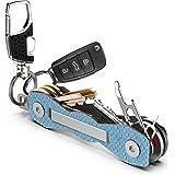 Portachiavi uomo e donna in fibra di carbonio - Organizattore chiavi per carichi pesanti premium fino a 18 chiavi - Key Holde