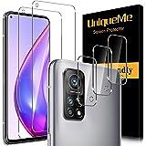 [2 PACK] UniqueMe Gehard Glas en [3 PACK] Camera Lens Protector voor Xiaomi Mi 10T 5G/Mi 10T Pro 5G, [Geen Bubbles] [Touch ge