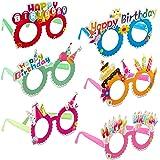 Relaxdays Gafas de Fiesta para Cumpleaños, Accesorio Divertido, Decoración Happy Birthday, Plástico-Papel, Multicolor, (10024