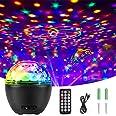 Qxmcov Led-discobol, feestlicht, led-projectorlamp, verlichting, muzieklichteffecten, met afstandsbediening, voor Kerstmis, X